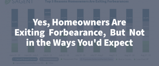 Yes, Homeowners Are Exiting Forbearance, But Not in the Ways You'd Expect